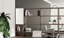 Manažerský nábytek Kancelář můžete rozdělit i pomocí skříňové sestavy.