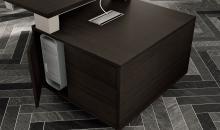 Manažerský nábytek Detail skříňky, která je součástí manažerského stolu Gemini