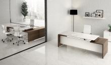 Stůl se skleněnou deskou Gemini Manažerský nábytek