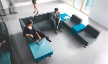 Modulární sedačkový systém OF WL - pro čekání a setkávání v halách a na recepcích