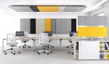 Kancelářský nábytek Moon O s akustickými paravány