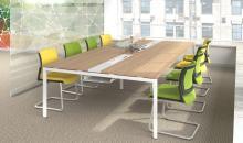 Jednací stoly MOON s vloženou lištou