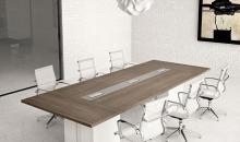 Velký jednací stůl Gemini na kových boxech