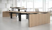 TOP M - výškově stavitelné stoly elektrické - v dubu