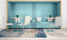 Obložení stěn panely Acoustic MOD light - box na sezení