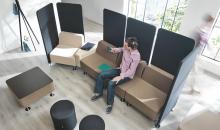 Akustický sedací nábytek - křesla a paravány