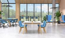 Židle do zasedačky TINA na dřevěné podnoži