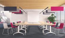 Konferenční židle TINA na kovové podnoži