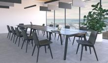 Jednací židle TINA na dřevěné podnoži