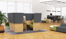 Umístění v open space kanceláři - Arcipelago wood