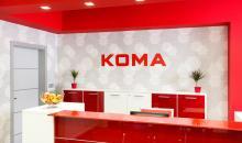 Reference KOMA Modular - červené recepce