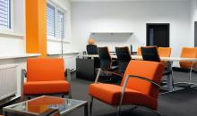Místo pro jednání v manažerské kanceláři