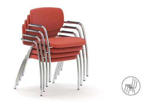 Stohovatelná Gama židle jednací