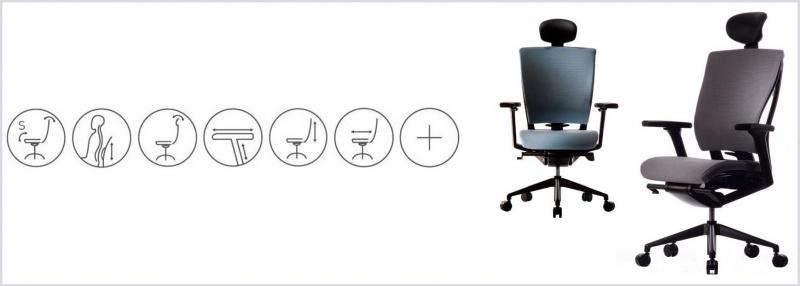 sidiz kancelářská židle ergonomická.