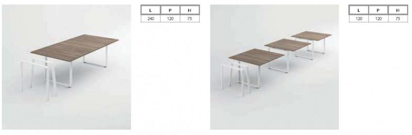 Rozměry Draco jednací stoly