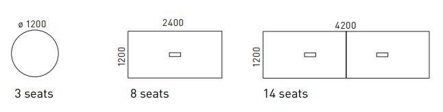 Pavo jednací stoly rozměry