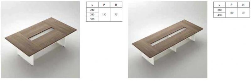 Gemini wood - jednací stoly