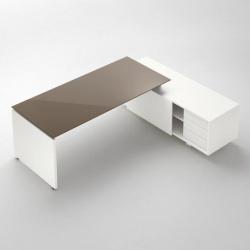 stůl se skleněnou deskou - gemini wood