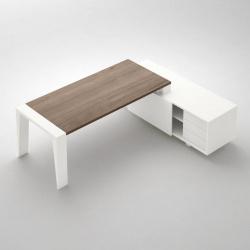 Gemini stůl s deskou v dekoru dřeva
