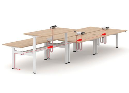prokabelvání stolů