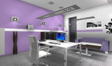 Návrhy kanceláří - Kancelář pro majitelku společnosti - řada SUN