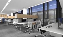 Návrhy kanceláří - ARIES - řešení open space